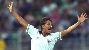 England striker Gary Lineker