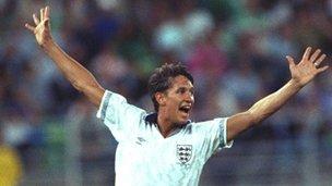 England striker Gary Lineker