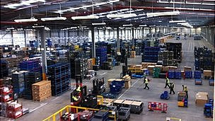 Inside the Vantec warehouse