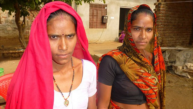 Sunita (left) and her twin sister who have both been rushed into having hysterectomy operations