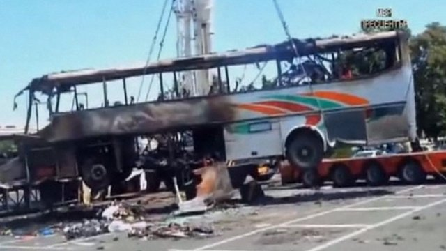 Bombed bus