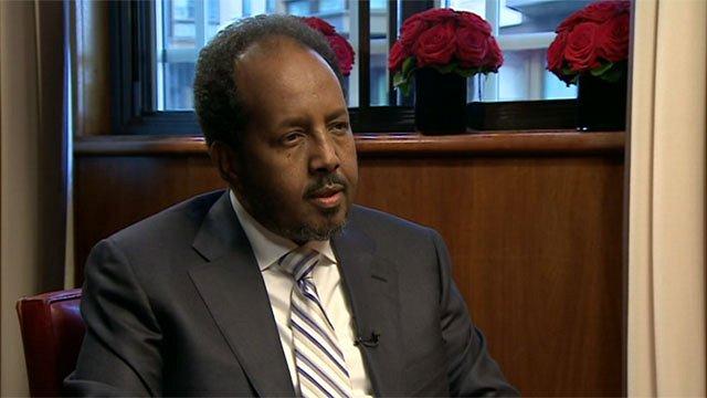 Somalia's President, Hassan Sheikh Mohamud