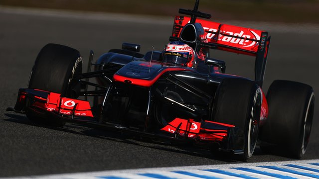 Jenson Button in action in Jerez