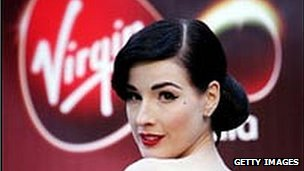 Model Dita Von-Teese launching Virgin Media