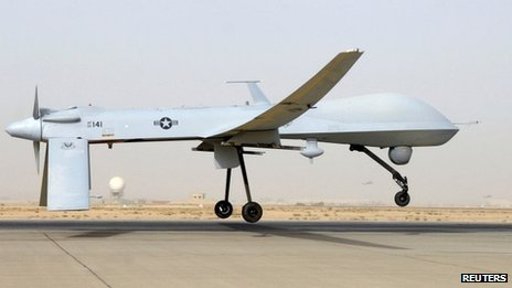 US drone operating in Iraq (file)