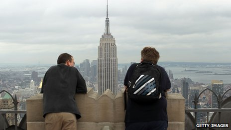 View of Empire State Building in New York