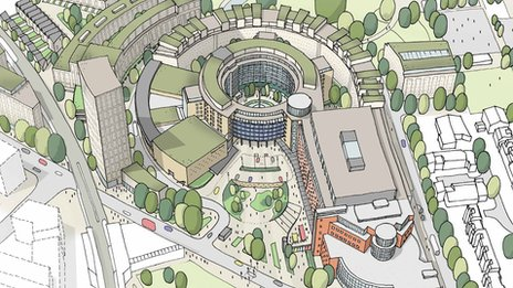 Artist's impression of Television Centre after redevelopment