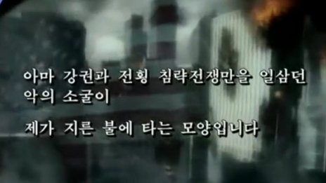 Screenshot from North Korea video