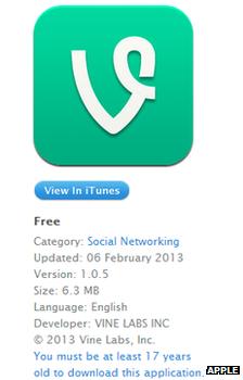Vine app store screenshot