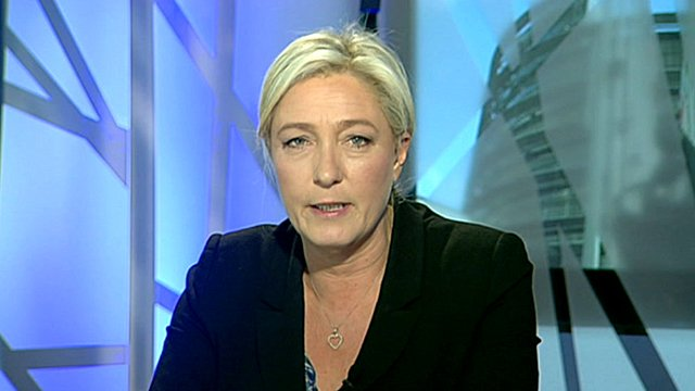 Front National leader, Marine Le Pen