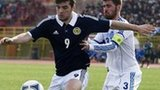 Celtic striker Tony Watt in action for Scotland U21s in Greece