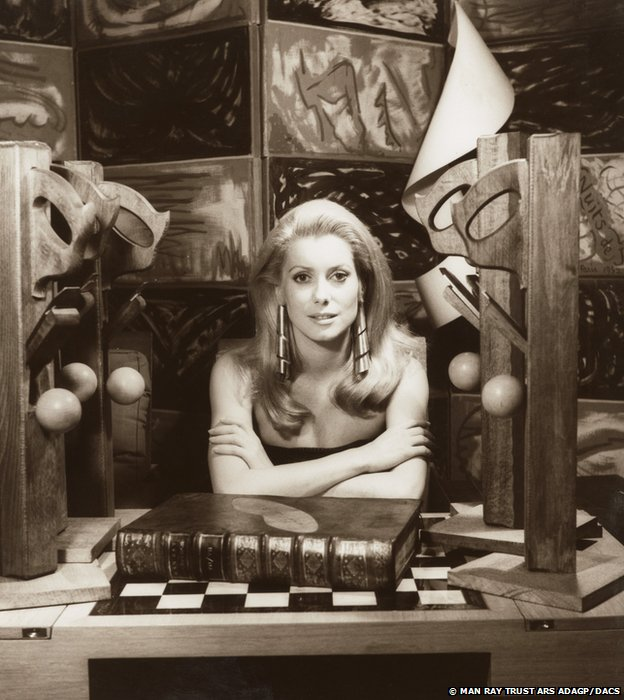 Catherine Deneuve, 1968 by Man Ray, Private lender