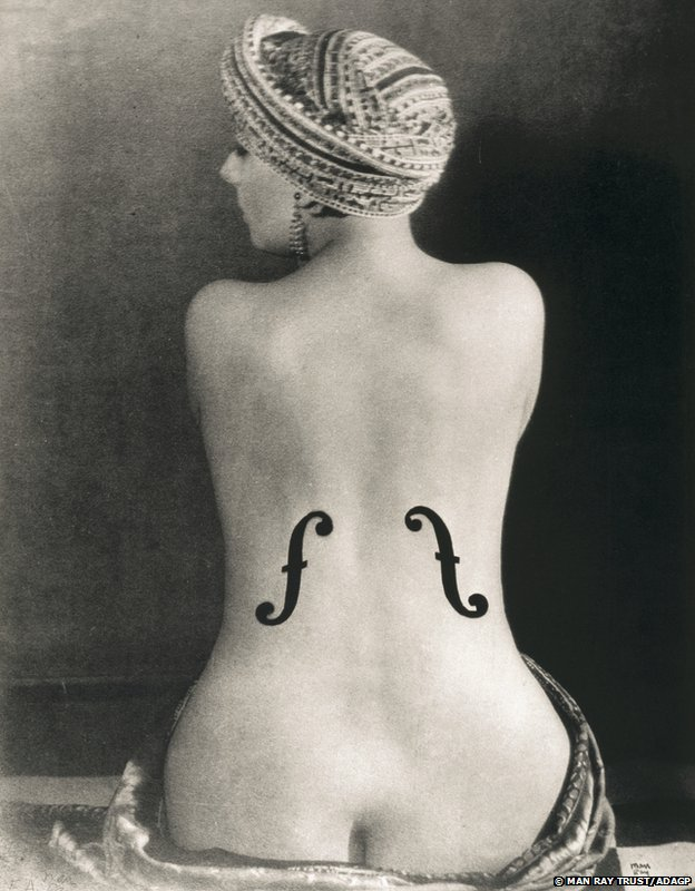 Le Violon d'Ingres, 1924 by Man Ray, Museum Ludwig Cologne, Photography Collections (Collection Gruber), © Copy Photograph Rheinisches Bildarchiv Köln