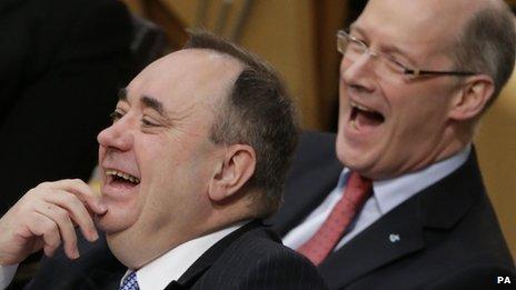 Alex Salmond and John Swinney