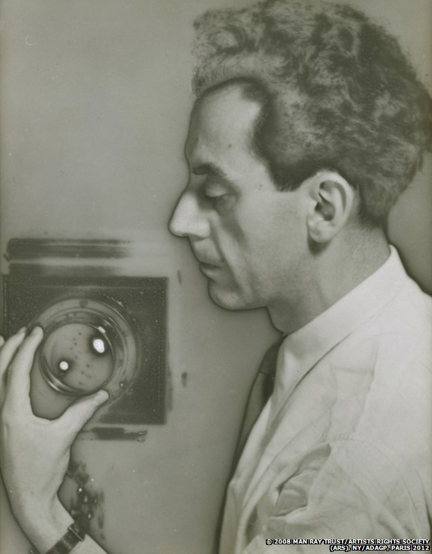 Man Ray Self-Portrait with Camera, 1932 by Man Ray, The Jewish Museum, New York, Purchase: Photography Acquisitions Committee Fund, Horace W. Goldsmith Fund, and Judith and Jack Stern Gift, 2004-16. Photo by Richard Goodbody, Inc.