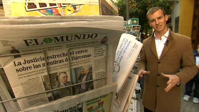 Tom Burridge and Spanish newspapers