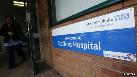 Stafford Hospital entrance