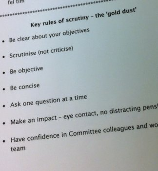 key rules of scrutiny