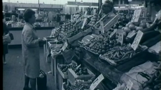 Old footage of market
