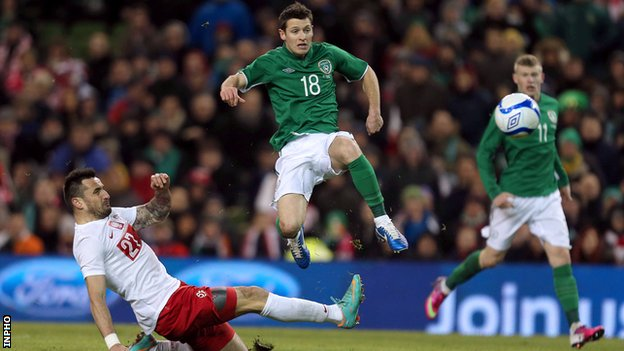 Wes Hoolahan scored the Republic's second goal at the Aviva Stadium