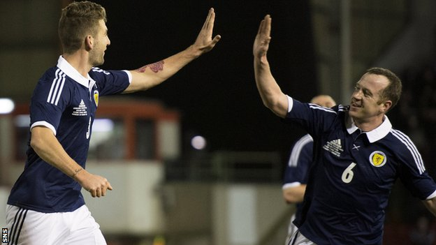 Scotland managed a 1-0 win over Estonia at Pittodrie