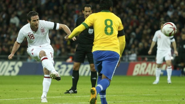 Frank Lampard scores for England