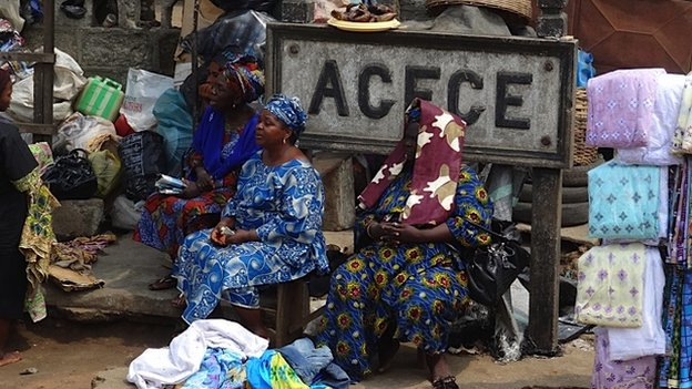 Women traders at Agege Station in Lagos