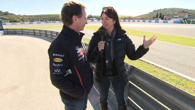 Christian Horner talks to Suzi Perry