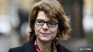 Vicky Pryce outside Southwark Crown Court on 7 February