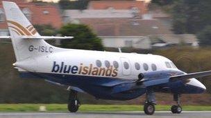 A Blue Islands aircraft