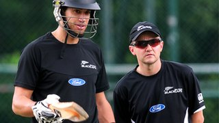 Ross Taylor and Mike Hesson
