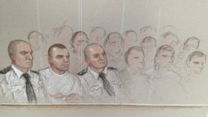 Dale Cregan in the dock - Julia Quenzler