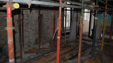 Scaffolding in Wymering Manor