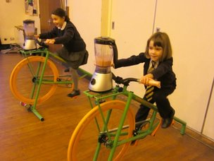 St Mary's Smoothie bikes in action!