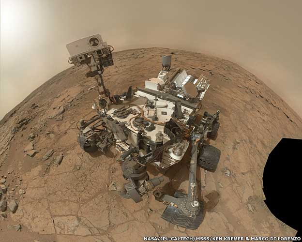 Rover self-portrait