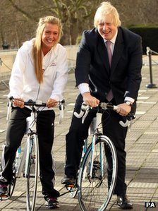 Boris Johnson with Laura Trott
