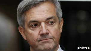 Chris Huhne outside Southwark Crown Court on 4 February