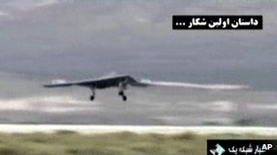 Video broadcast on Iranian television purportedly showing a US drone landing in Afghanistan
