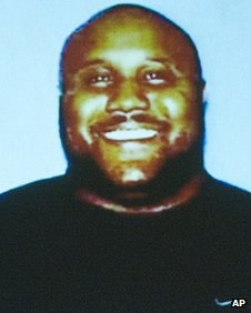 Undated police handout image of Christopher Dorner