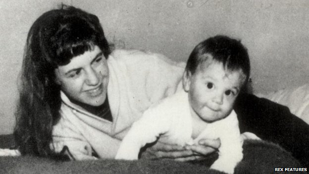 Sylvia Plath with her son Nick