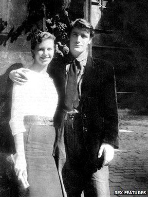 Sylvia Plath and Ted Hughes on their honeymoon