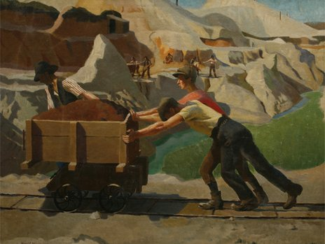 Harold C Harvey, The Clay Pits (Bridgeman Art Library)