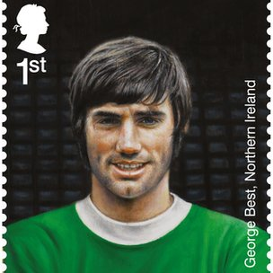 George Best features on a set of Royal Mail stamps.