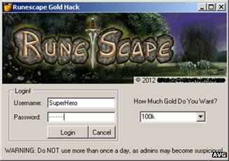 Runescape program screenshot