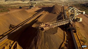 Iron ore mine in Australia