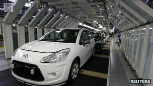Citroen C3 on the assembly line