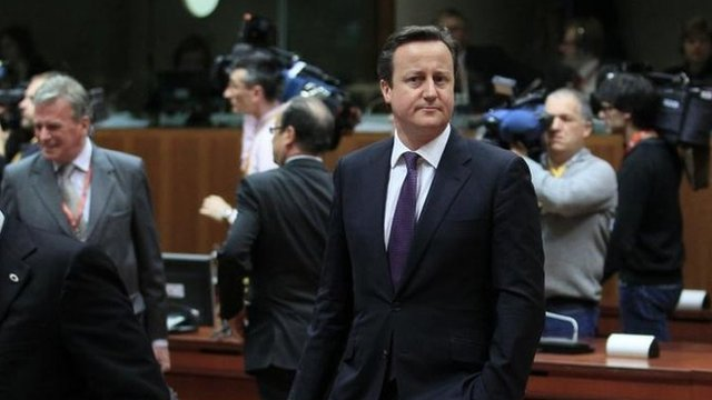 David Cameron in Brussels, 7 February