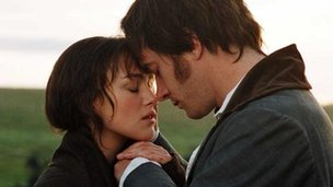 Keira Knightley and Matthew Macfadyen in the 2005 film of Pride and Prejudice