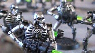 Warhammer Necron figures