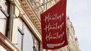 Hamleys sign